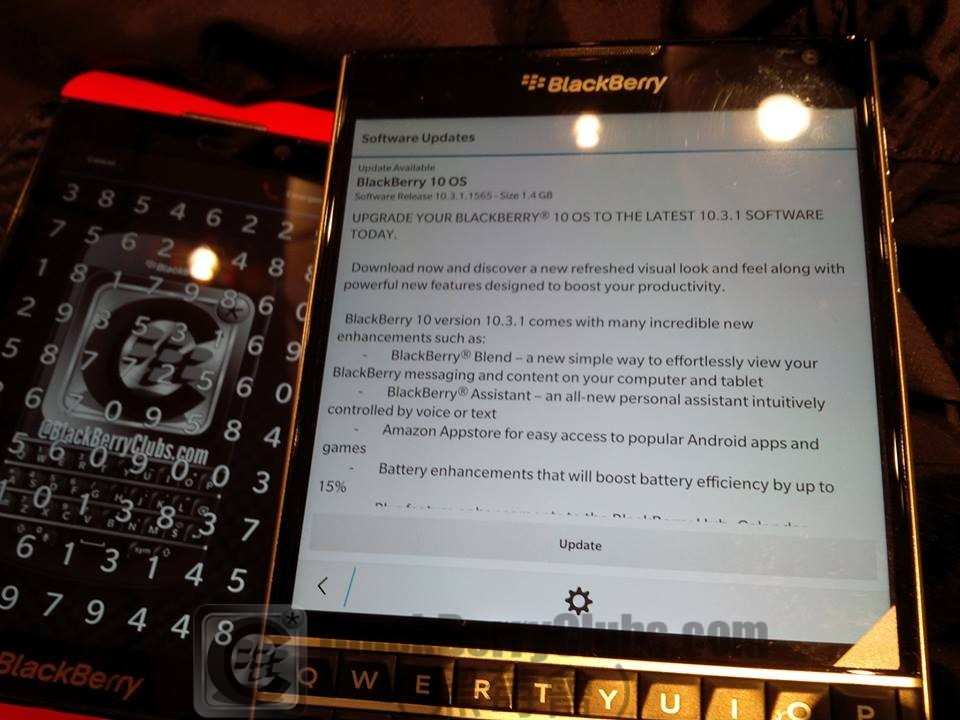 BlackBerry Passport get BlackBerry OS 10.3.1 OTA update